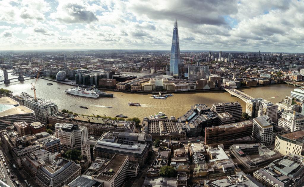 Londýn pohled ze Sky garden