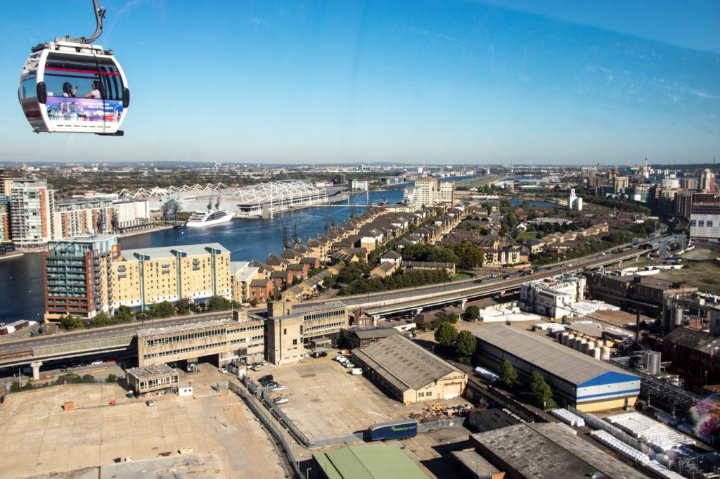 emirates cable car london lanovka