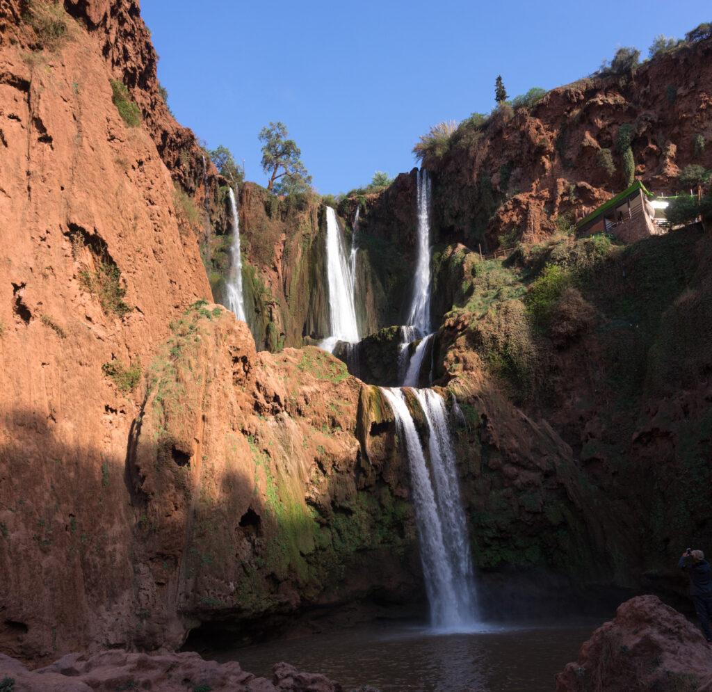 vodopád Ouzoud Maroko